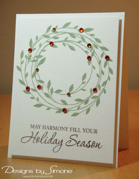 Holiday Harmony Wreath Card
