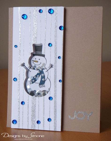 Joy Snowman Shaker Card