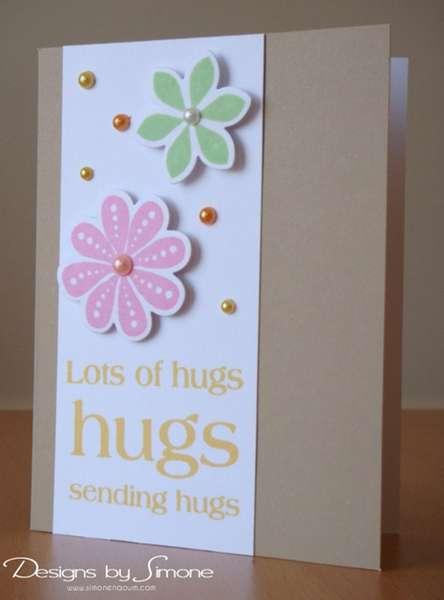 Lots of Hugs Floral Card