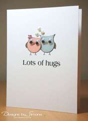 Owl Couple Hugs Card