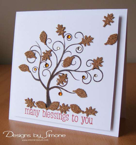 Fall Cork Leaves Card