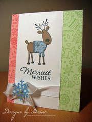 Merriest Wishes Reindeer Fun Card