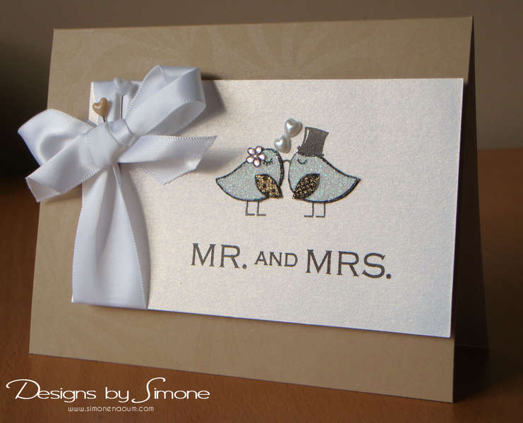 Mr & Mrs Love Birdies Card