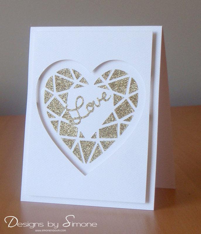 Reverse Diamond Heart Card