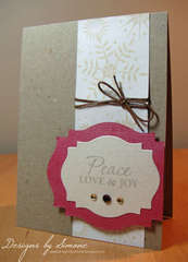 Snowflake Peace & Love Card