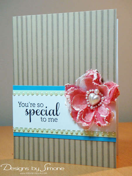 Special to Me Pearl Flower Card