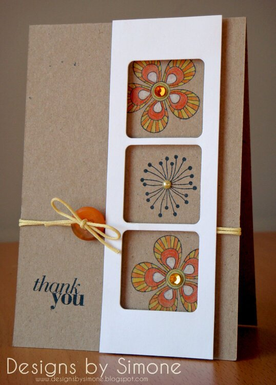 Summer Blossom Thank You Card