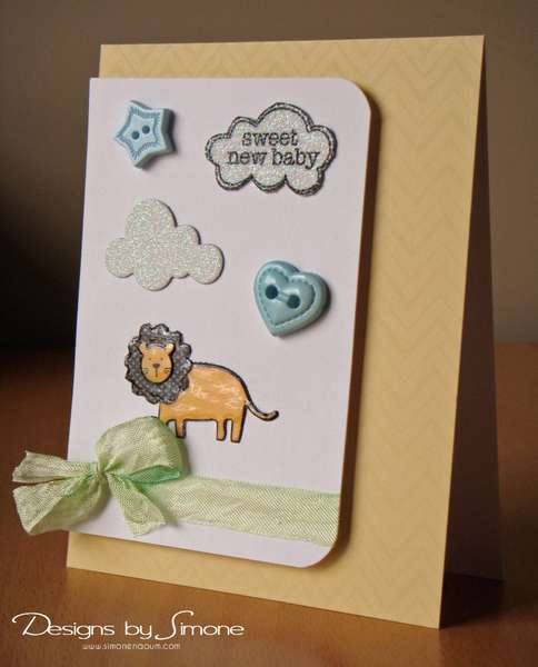 Sweet Baby Lion Card