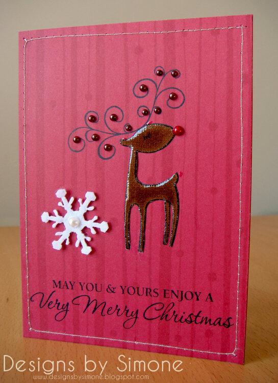 Very Merry Rudolph Card