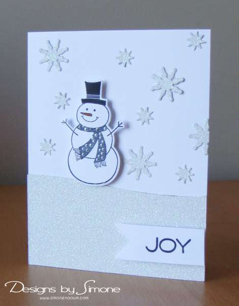 Winter White Snowman Card