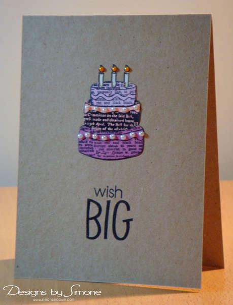 Wish Big Birthday Cake Card