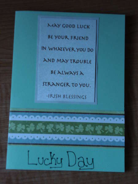 St Patrick's Day Card (outside)