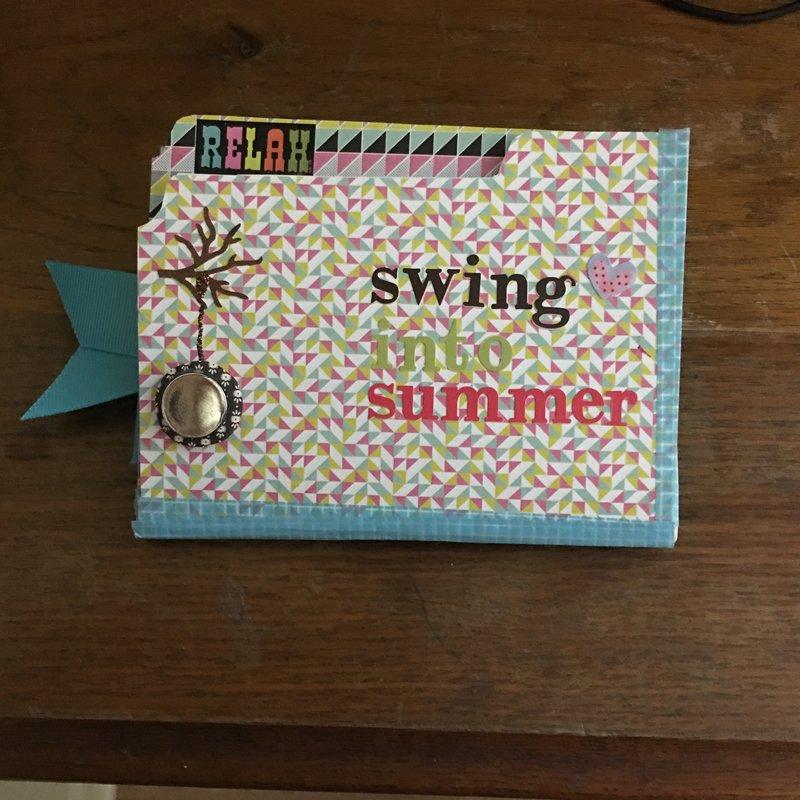 Swing into Summer file folder letter