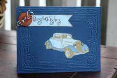 #8  -October Card Challenge Transportation Best Wishes