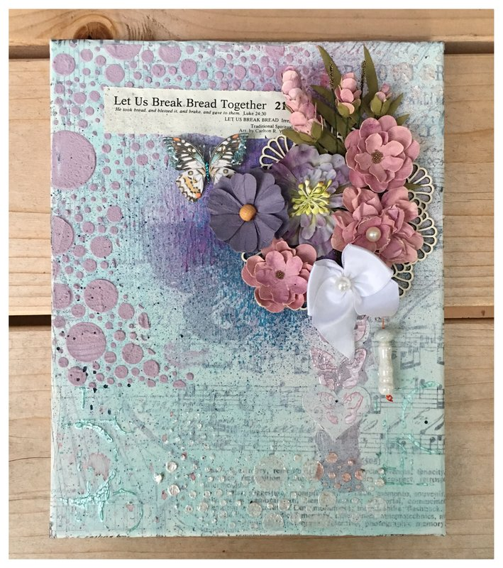 Mixed Media Canvas for Marylou