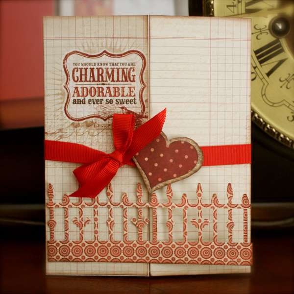 Charming and Adorable Gatefold Card (Card #13)