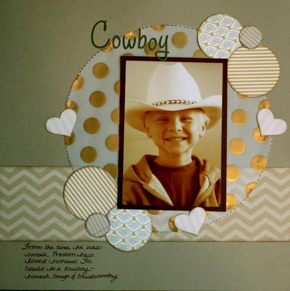 Cowboy (Scrapbook.com February Kit Challenge)