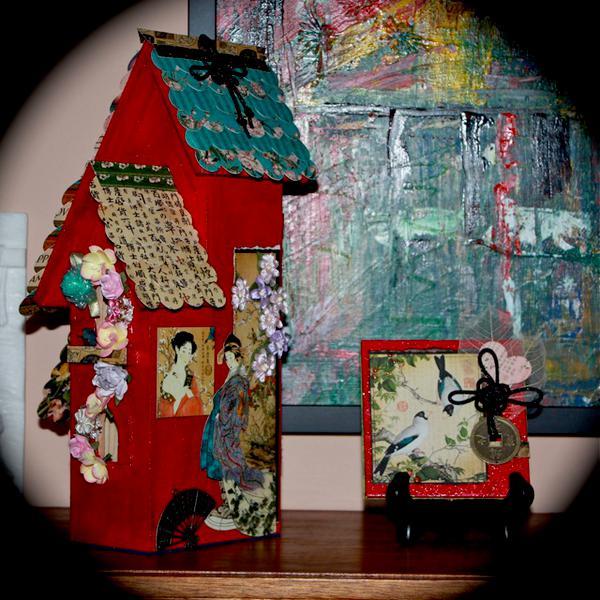 Bird House and Canvas for Bird Song Swap