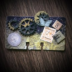 Steampunk Altered Rolodex Card