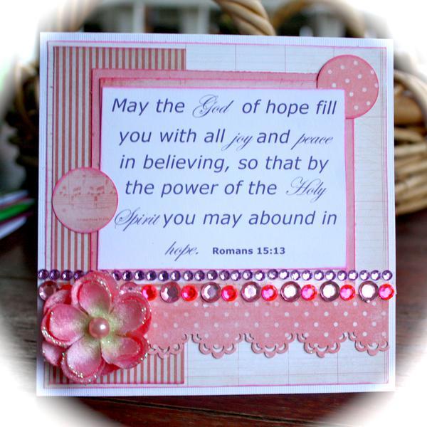 Romans 15:13 - November Card 19