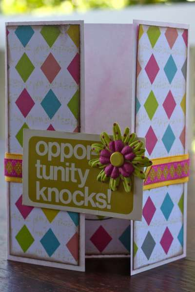 Opportunity Knocks Gatefold Card (#6)