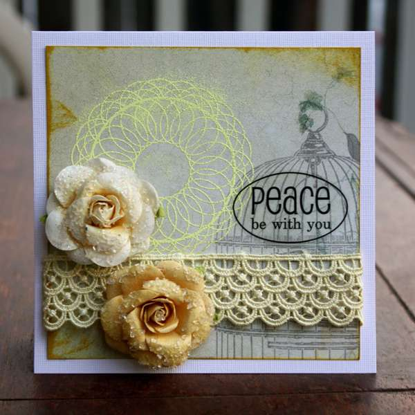 Peace Be With You - September Theme Card Friendship