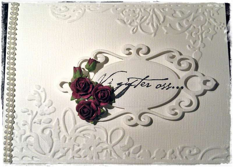 Weddinginvitation vard - Front