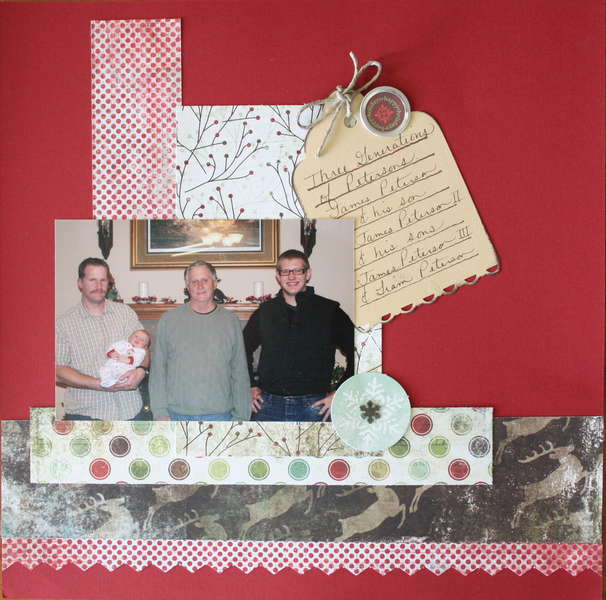Christmas Layout: Three Generations of Petersons