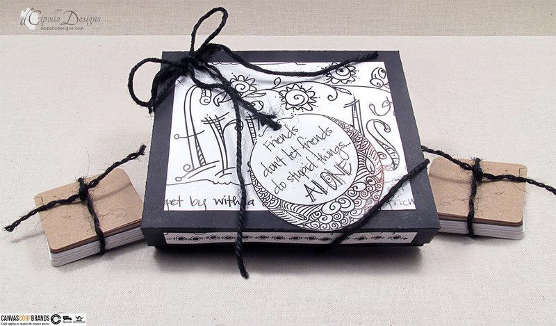 Tangle Tiles Gift Box SVG Cut File