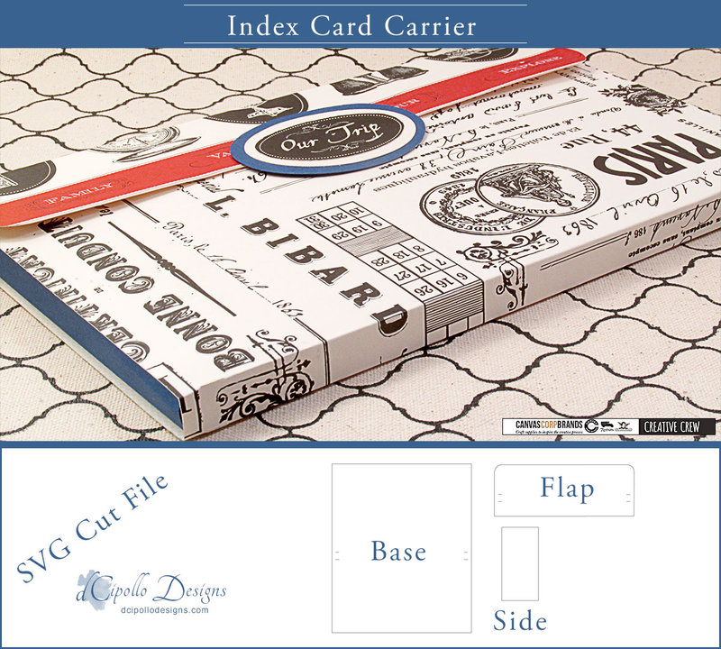 Index Card Carrier SVG Cut File