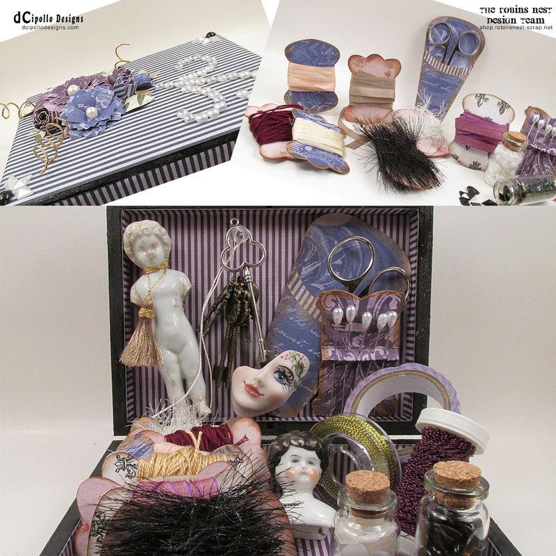 Shabby Chic Fleur Box with Thread Cards