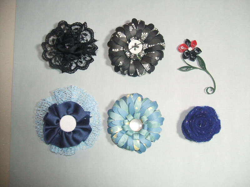 Black and Blue flowers!