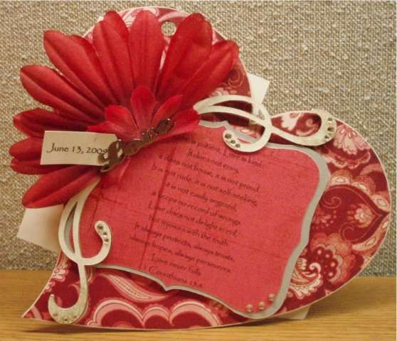 Heart Shaped Wedding Chipboard Album