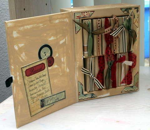 Christmas box of mini books- inside
