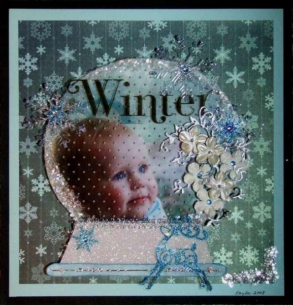 WINTER..............IN A SNOWGLOBE
