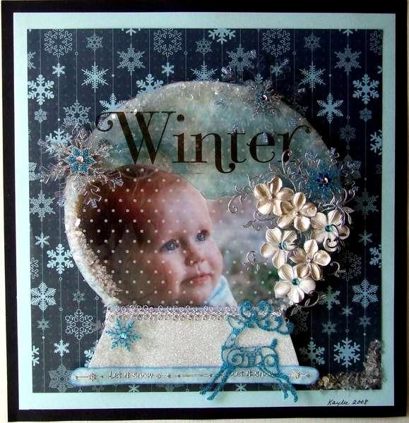 winter in a snow globe................pic retaken