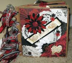 Wedding-Black/white/red paper bag album
