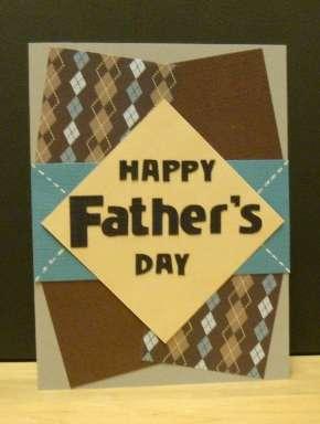 Father's day argyle blocks