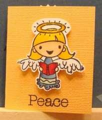 Christmas angel minicard