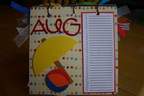 Perpetual Gift Calendar - 08 August