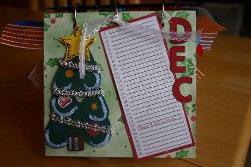 Perpetual Gift Calendar - 12 December