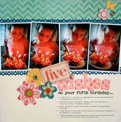 5 Wishes<br>{Scrapbook Trends Quick & Easy}