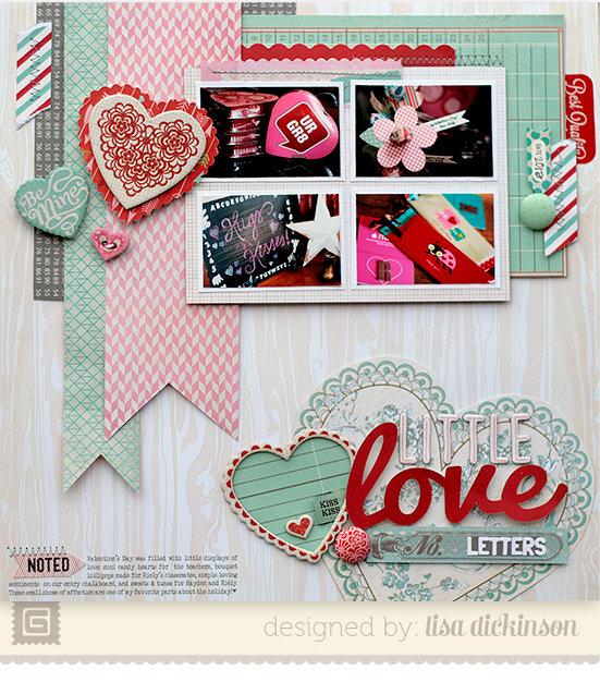 Little Love Letters | Scrapbook Trends Feb '14
