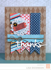 Thanks Card | BasicGrey Persimmon