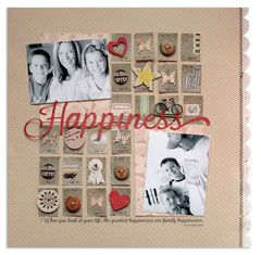 happiness<br>[Scrapbook Trends Mar '13]