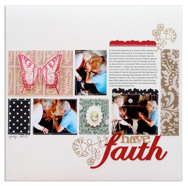 have faith<br>[Scrapbook Trends Nov '12]