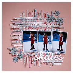 she skates{Scrapbooks Etc. FEB '12}