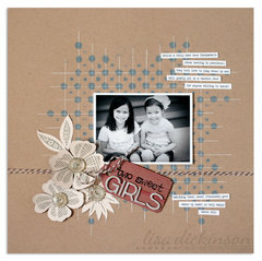 two sweet girls| Scrapbook Trends Aug '13