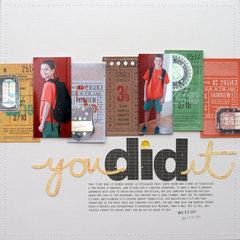 you did it | Scrapbook Trends Mar '14