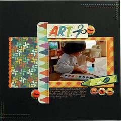 Art ***Scrapbook Daisies Sept. Kit***